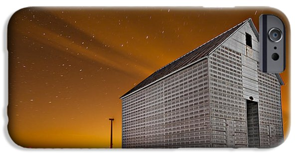 The White House Photographs iPhone Cases - Orange Skies at Night iPhone Case by Tom Phelan