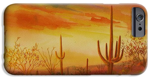Summer Celeste iPhone Cases - Orange Sunset iPhone Case by Summer Celeste