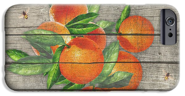 Locally Grown iPhone Cases - Oranges-JP2677 iPhone Case by Jean Plout