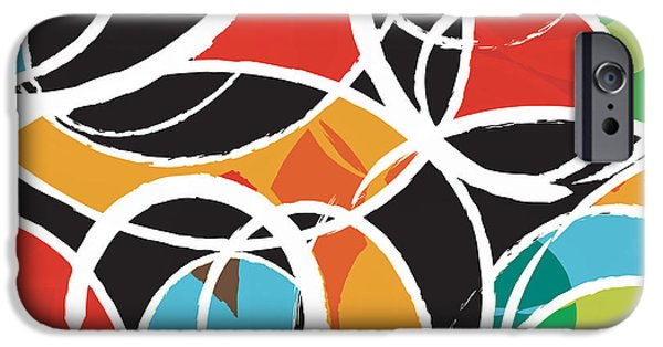 Colors Digital Art iPhone Cases - Orbit iPhone Case by Budi Satria Kwan