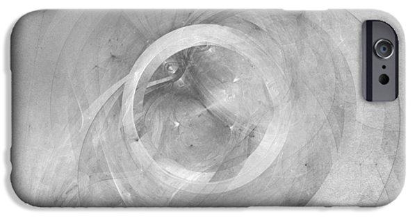 Stellar iPhone Cases - Orbit monochrome iPhone Case by Scott Norris