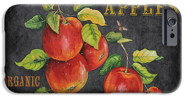 Locally Grown iPhone Cases - Orchard Fresh Apples-JP2638 iPhone Case by Jean Plout
