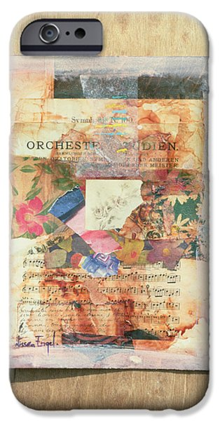 Sheets iPhone Cases - Orchestra, 1999 Mixed Media iPhone Case by Nissan Engel