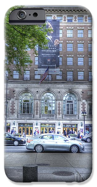 Symphony Hall iPhone Cases - Orchestra Hall - Chicago iPhone Case by David Bearden