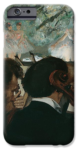 1876 Paintings iPhone Cases - Orchestra Musicians iPhone Case by Edgar Degas