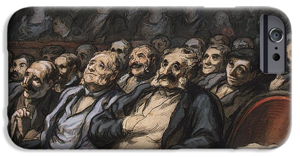 Concentration iPhone Cases - Orchestra Seat iPhone Case by Honore Daumier