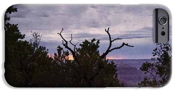 United States iPhone Cases - Orchestrating a Sunset at the Grand Canyon iPhone Case by John Bailey
