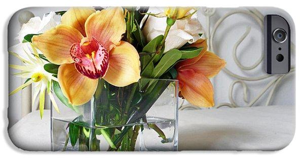Petals iPhone Cases - Orchid Bouquet iPhone Case by Irina Sztukowski