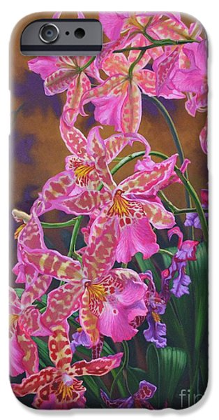 Sears Tower iPhone Cases - Orchid Fever 3 Miltonia iPhone Case by Fiona Craig
