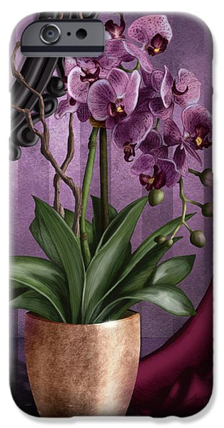 Orchid iPhone Cases - Orchid I iPhone Case by April Moen