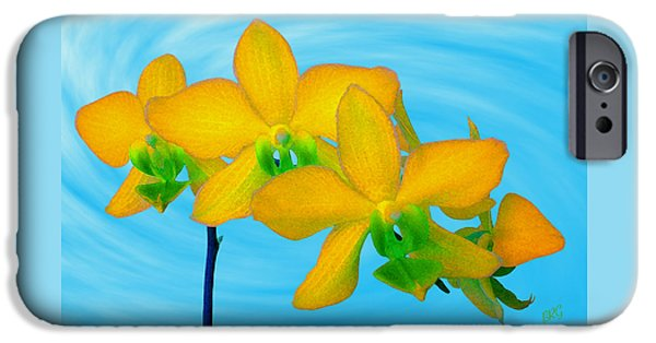 Brg iPhone Cases - Orchid In Yellow iPhone Case by Ben and Raisa Gertsberg
