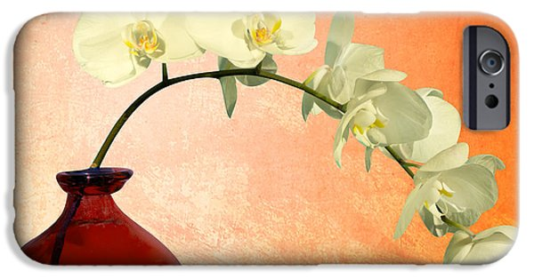 Orsillo Digital iPhone Cases - Orchids 2 iPhone Case by Mark Ashkenazi