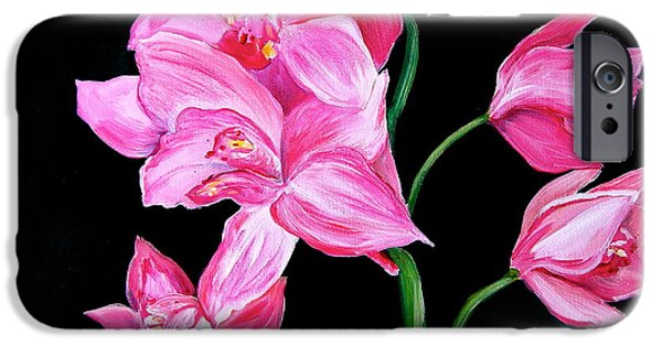 Debi Pople iPhone Cases - Orchids iPhone Case by Debi Starr