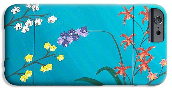 Young Paintings iPhone Cases - Orchids iPhone Case by Kate McTavish