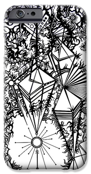 Disorder iPhone Cases - Order and Chaos iPhone Case by Devin  Cogger
