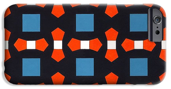 Geometric Shape iPhone Cases - Order In Space, 2008 Acrylic On Canvas Board iPhone Case by Peter McClure
