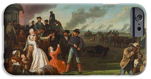 Owner Photographs iPhone Cases - Order No. 11, 1865-70 Oil On Canvas iPhone Case by George Caleb Bingham