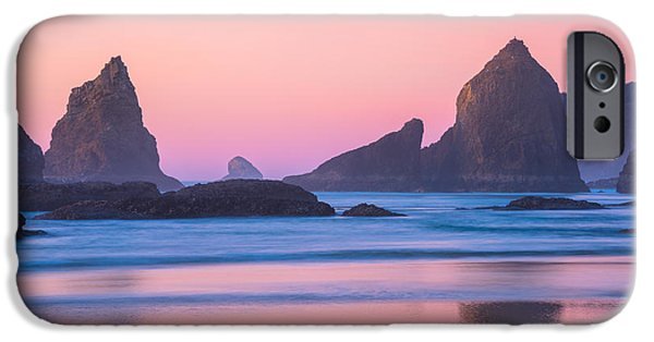 Oregon Coast iPhone Cases - Oregon Coast Twilight iPhone Case by Darren  White