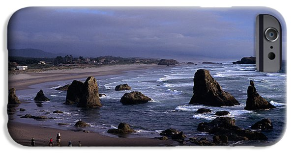 Local Attraction iPhone Cases - Oregon Coastline iPhone Case by Jim Corwin