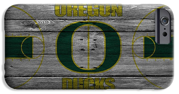 Division iPhone Cases - Oregon Ducks iPhone Case by Joe Hamilton