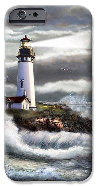Oregon Lighthouse Beam of hope iPhone Case by Gina Femrite