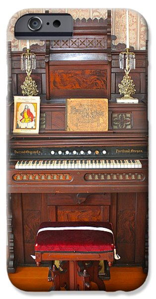 White House Pyrography iPhone Cases - Oregon Organ in the Hughes House iPhone Case by DUG Harpster