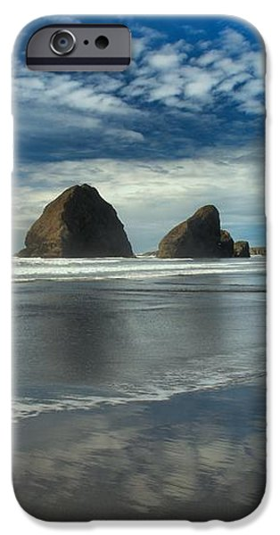 Oregon Sea Stack Surf iPhone Case by Adam Jewell