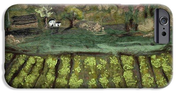 Farm Tapestries - Textiles iPhone Cases - Oregon Vineyard iPhone Case by Kyla Corbett