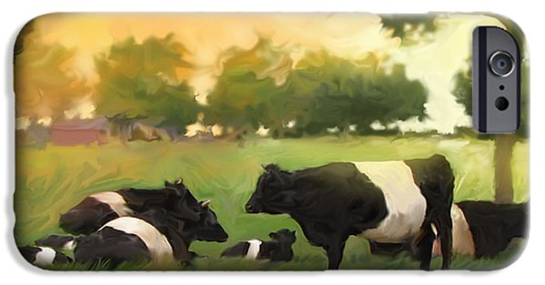 Oreo iPhone Cases - Oreo Cows iPhone Case by Curtis Chapline