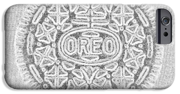 Oreo iPhone Cases - OREO in GREY iPhone Case by Rob Hans
