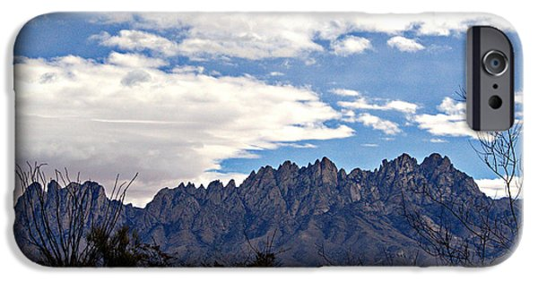 Barbara Chichester Digital iPhone Cases - Organ Mountain Landscape iPhone Case by Barbara Chichester