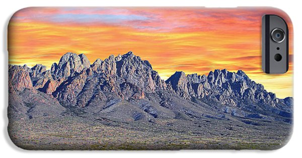Stretched Canvas iPhone Cases - Organ Mountain Sunrise iPhone Case by Jack Pumphrey
