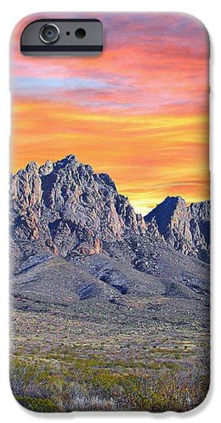 Organ Mountain Sunrise iPhone Case by Jack Pumphrey