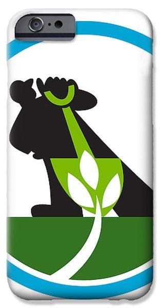 Organic Farmer Shovel Plant Circle iPhone Case by Aloysius Patrimonio