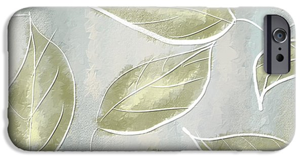 Yellow Leaves iPhone Cases - Organic Feel iPhone Case by Lourry Legarde