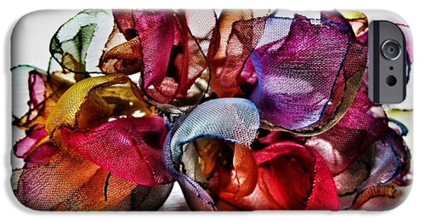 Stock Images iPhone Cases - Organza Petals iPhone Case by Marianna Mills