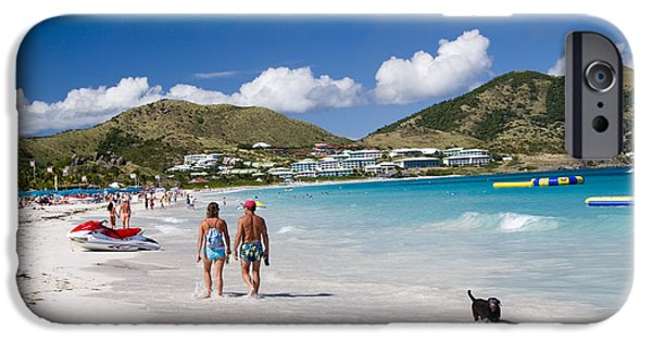 West Indies iPhone Cases - Orient Beach in St Martin FWI iPhone Case by David Smith