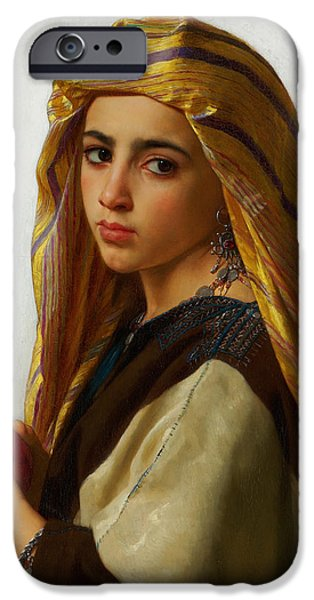 Gerome iPhone Cases - Oriental Girl iPhone Case by Celestial Images