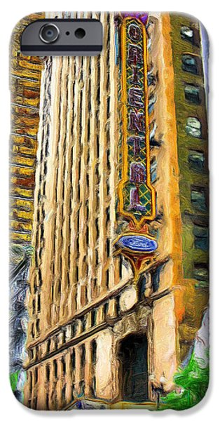 Ely Arsha iPhone Cases - Oriental Theater of Chicago iPhone Case by Ely Arsha
