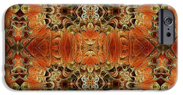 Youthful Mixed Media iPhone Cases - Oriental Variations iPhone Case by Georgiana Romanovna