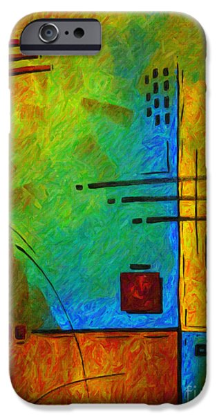 Buying Online Digital Art iPhone Cases - Original Abstract Painting Digital Conversion for Textured Effect RESONATING III by MADART iPhone Case by Megan Duncanson