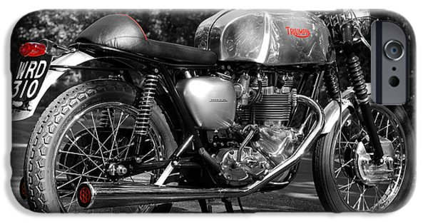 Racer iPhone Cases - Original Cafe Racer iPhone Case by Mark Rogan