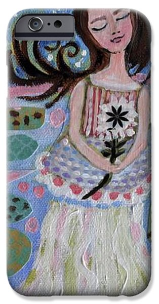 Little Girl iPhone Cases - Original Dream Girl iPhone Case by Karen Fields