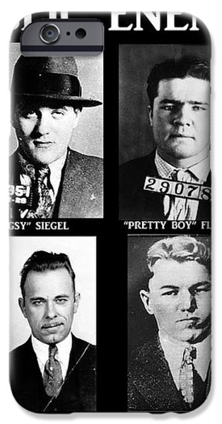 Original Gangsters - Public Enemies iPhone Case by Paul Ward