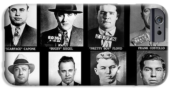 Banks iPhone Cases - Original Gangsters - Public Enemies iPhone Case by Paul Ward