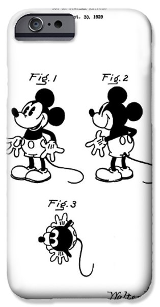 Toy Store iPhone Cases - Original Mickey Mouse Patent iPhone Case by Dan Sproul