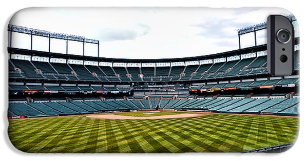 Camden Yards Stadium iPhone Cases - Oriole Park at Camden Yards iPhone Case by Bill Cannon