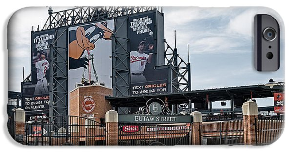 Camden Yards Stadium iPhone Cases - Oriole Park at Camden Yards iPhone Case by Susan Candelario