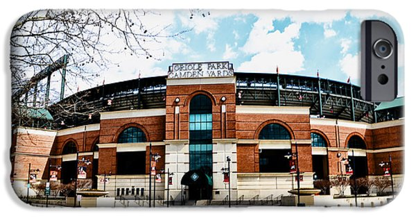 Camden Yards Stadium iPhone Cases - Oriole Park - Camden Yards iPhone Case by Bill Cannon