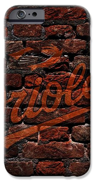 Orioles Baseball Graffiti on Brick  iPhone Case by Movie Poster Prints